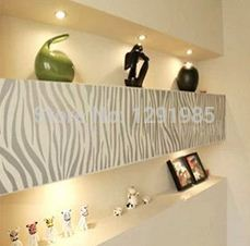 Diy black zebra print stripe wall art decal stick bedroom dorm living