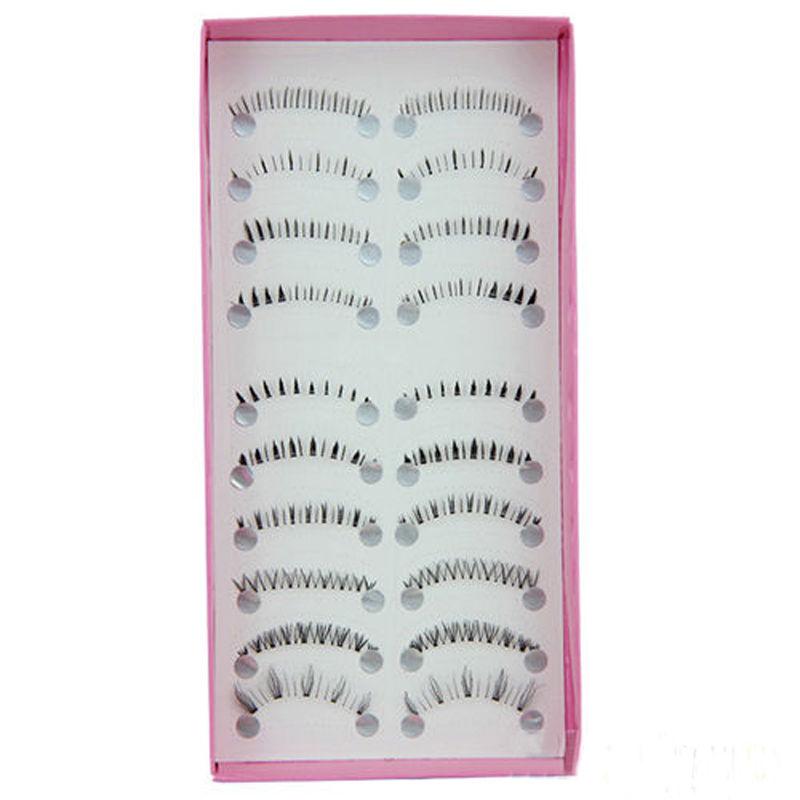 10 Pairs Different Style Lower Under Bottom False Eyelashes Fake Eye Lashes Extension Makeup Tools(China (Mainland))