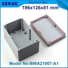 Buy 10 pieces enclosure waterproof customizeable aluminium waterproof outlet box 81, Hx126, Wx196, L mm for $270.00 in AliExpress store