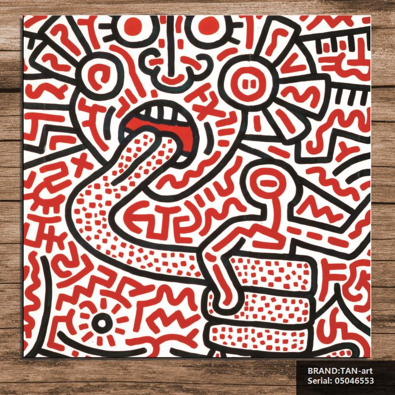 Keith HARING Original Pop ART GICLEE poster print on canvas Portrait Impressionist oil Painting Drawing art Spray05046553(China (Mainland))