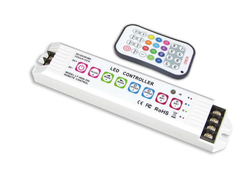 LT-3900-350;Multi function LED RGB Controller;DC12-48V input;CC 350m*3CH output(China (Mainland))