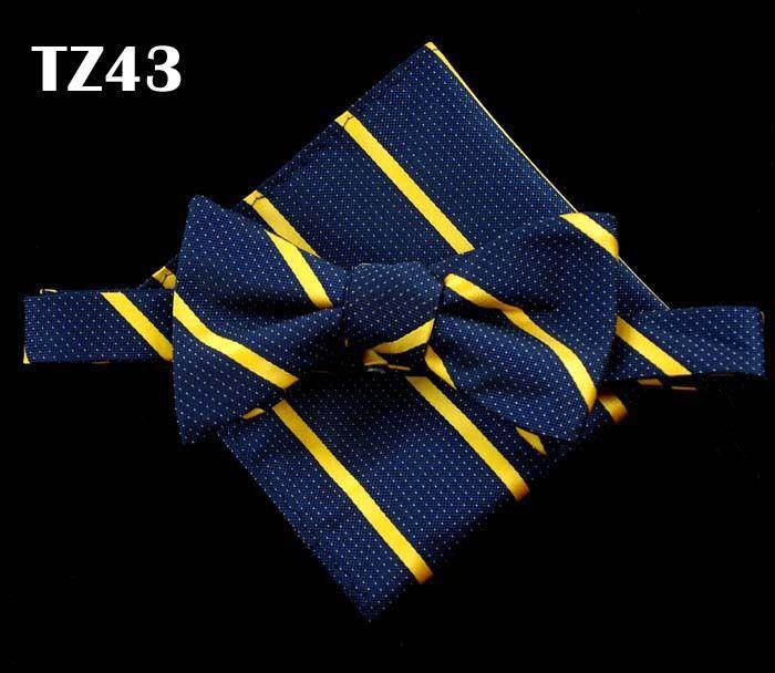 SHENNAIWEI gravata borboleta Silk Self Bow Tie Jacquard Woven Men Wedding tie Pocket Square Handkerchief Suit Bowties Set - 2015 store