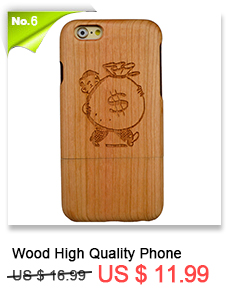 For iPhone SE 5 5S 6 6plus 7 7plus Shockpro of Natural Cherry Wood Materials+PC Phone Slim Back Mobile Phone Case