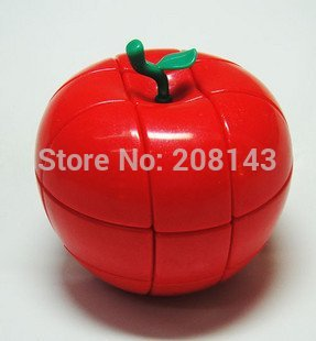 QJ 3x3x3 Red Apple Magic Cube IQ Tester Free Shipping Worldwide(China (Mainland))