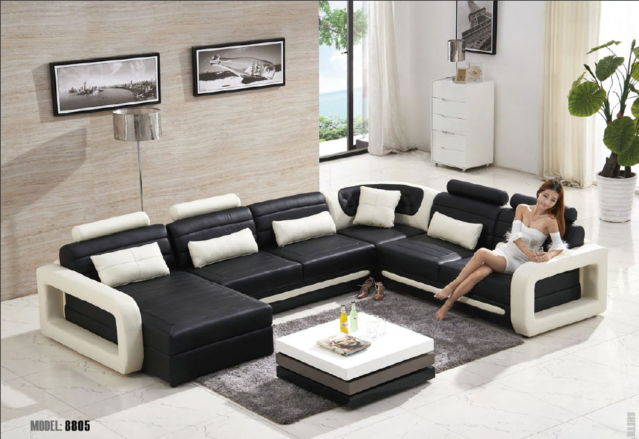 Furniture sofa couch picture more detailed picture about for U shaped sofa in living room
