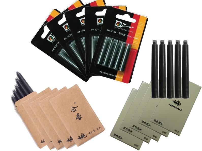 Здесь можно купить  Blue Ink  Cartridges  For Fountain Pen  Jinhao Aatationery  Standard Type ( 5 PCS / BOX ) FREE SHIPPING w/ TRACKING NUMBER  Офисные и Школьные принадлежности