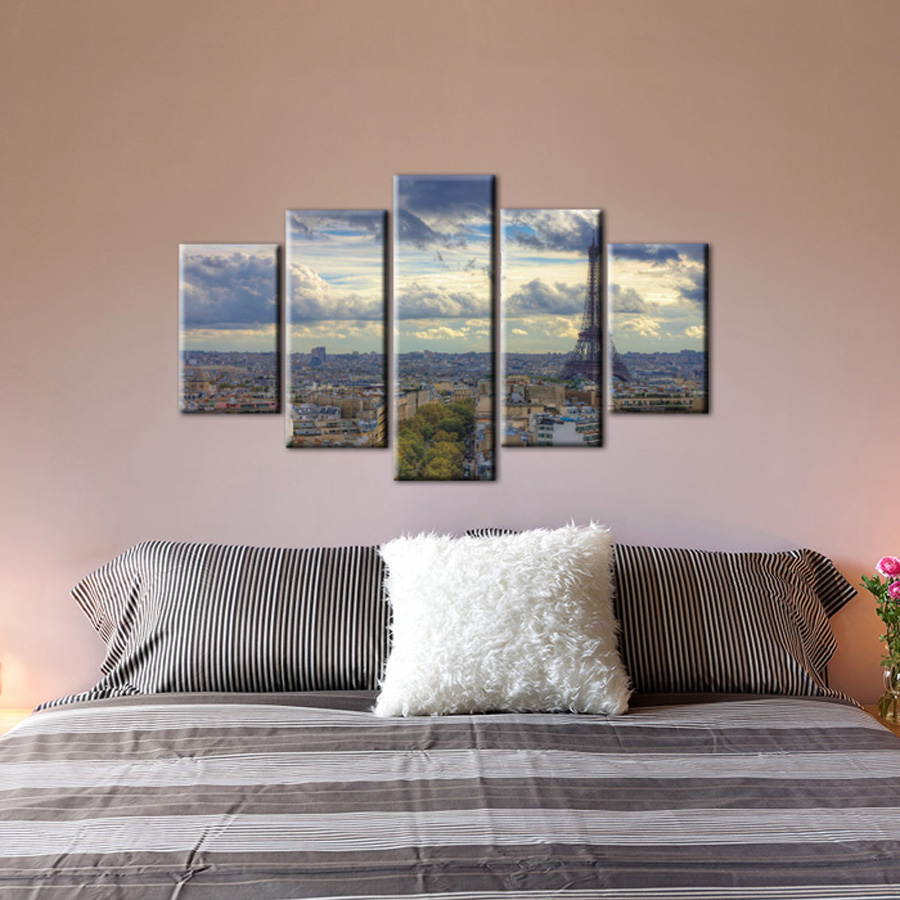 5 Piece Canvas Wall Art Decorative Cheap Prints Picture Modern Abstract Canvas Bedroom Artwork