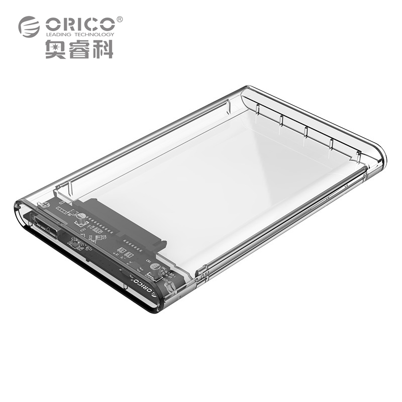 ORICO 2.5 inch Transparent HDD Case USB3.0 to Sata 3.0 Tool Free 5 Gbps Support UASP Protocol SATA3.0 Hard Drive Enclosure(China (Mainland))