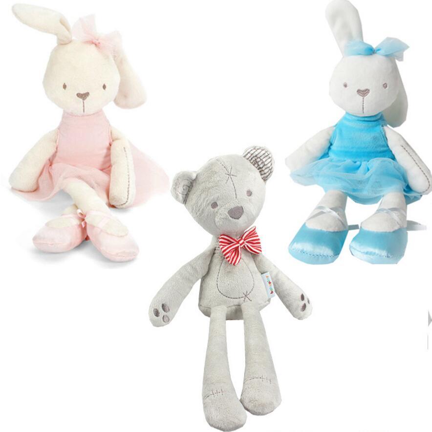 Cute rabbit stuffed plush toddler toys lovely soft appease little bear dolls children Christmas gifts(China (Mainland))