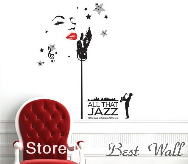 Jazz Musician Wallpaper Jazz Singer Wall Stickers