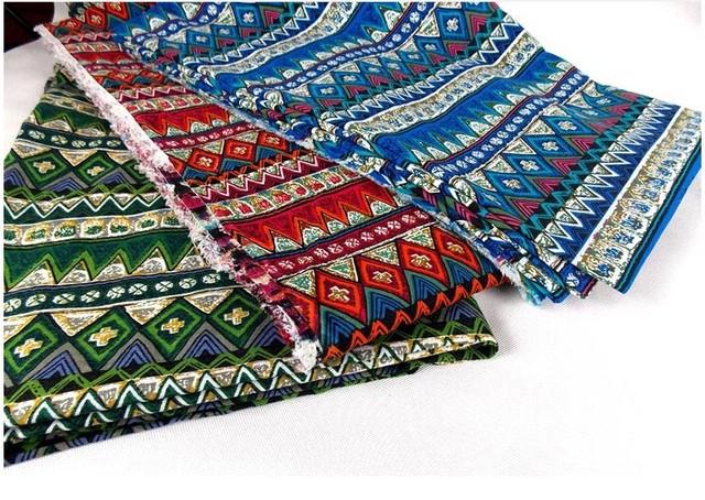 Width145cm coton tissu patchwork imprim ethnique caract ristiques tissu pour v tement tapis - Toile a canevas pour tapis ...