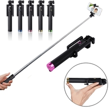 Luxury Mini Wireless Selfie Stick Handheld Monopod Built-in Bluetooth Shutter Extendable with Fold Holder For Smartphone
