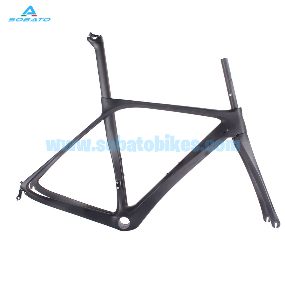 full carbon fiber frame t800 ud weave glossy finish road bike frame can diy sobato decals