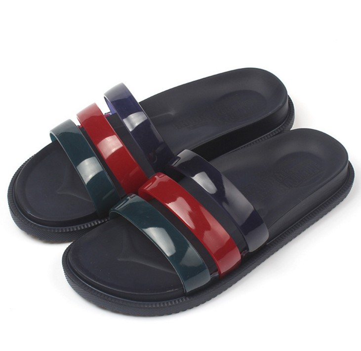 Band Slides Gent Summer Poolside Shower Sandals Man Casual Footwear Home Shoes(China (Mainland))
