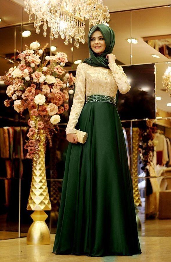 2016 New Arrival Elegant Kaftan Dubai Long Sleeve Muslim Evening Dresses Green Pink Lace Arabic Style Evening Gown Dresses China(China (Mainland))