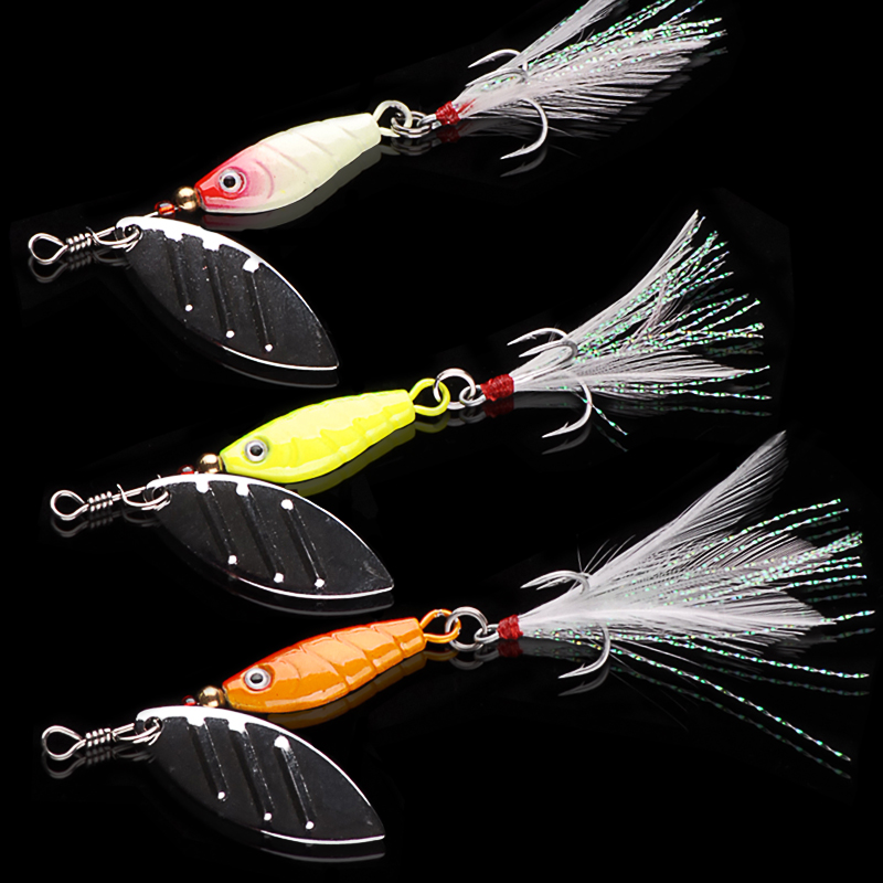 Brand 7cm10g Pesca Fishing Lure Isca Artificial Spinner Baits Fish Peche Carp Tackle Fly Lures - Hepburn's Garden store