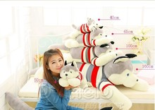 stuffed animal lovely husky dog plush toy about 120cm prone dog doll 47 inch throw pillow sleeping pillow toy h890