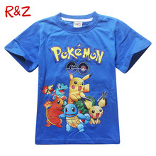 2Y-10Y Boys Girls Pokemon Go T shrit Kids 100% Cotton T-shirts Short sleeve Children Boys Tops Sports Tee Shirts Summer Clothing(China (Mainland))
