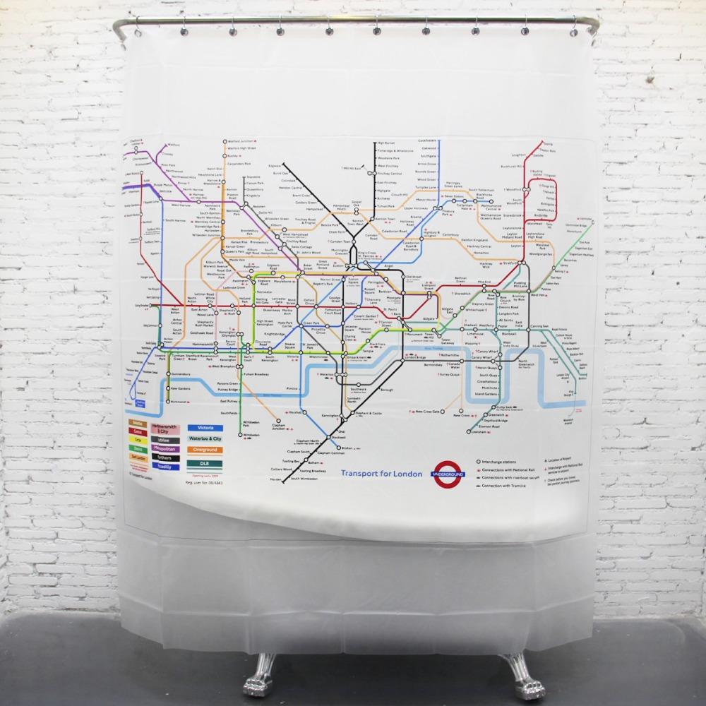 Cortinas De Baño Aliexpress:London-Subway-EVA-baño-cortina-de-ducha-de-la-pantalla-Linersjpg