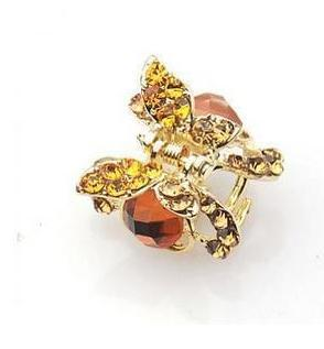 Crystal Rhinestone Hair Clip Claw Fashion 2013 Small Gold Plated Butterfly Gripper Accessory Hairpin E009 - China's export trade store