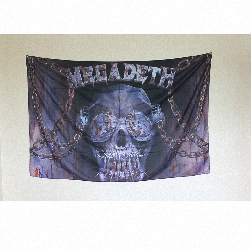 MEGADETH! Rock Band Sign Retro Bar Cafe Gallery Music Festival Decorative Wall Stickers Hanging Flags Hanging Cloth Art Poster