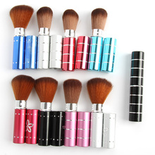 Wholesale FreeShipping Portable Pro Leopard Beauty Makeup Cosmetic Face Cheek Foundation Powder Brush