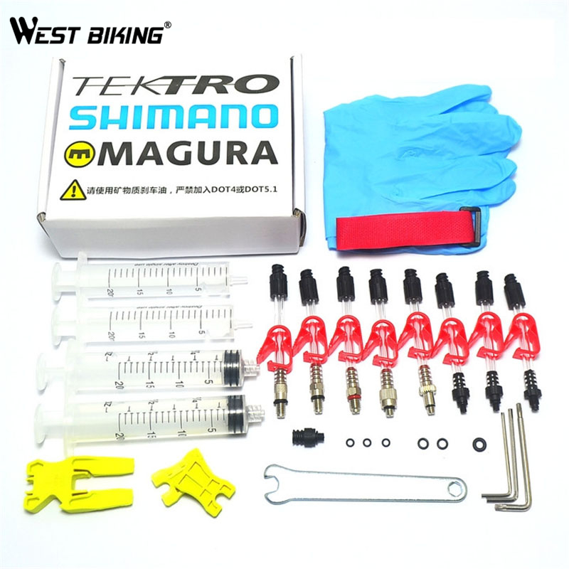 Bicycle Hydraulic Disc Brake Bleed Kit Tools for SHIMANO TEKTRO Louise Marta HS33 HS11 ECHO MAGURA ZOOM CSC Brake Bleed Kit Tool(China (Mainland))