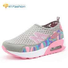 2016 New Women Fashion Summer Breathable Air Mesh zapatillas deportivas mujer Casual Sport Increasing Height Walking Shoes Woman