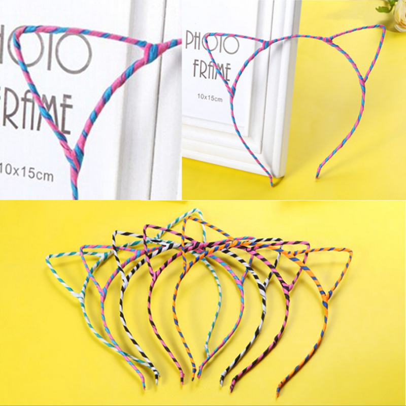 2015 Summer Style Hot Sale New Arrival Cute Cat Ear Hair Accessories Band Small Headband for Women Hello Kitty Styling Tools(China (Mainland))