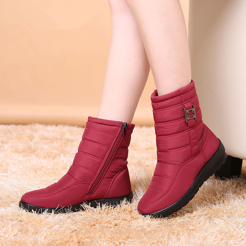 SNOW BOOTS 2017 BRAND WOMEN WINTER BOOTS MOTHER SHOES ANTISKID WATERPROOF FLEXIBLE WOMEN AUTUMN FASHION CASUAL BOOTS PLUS SIZE