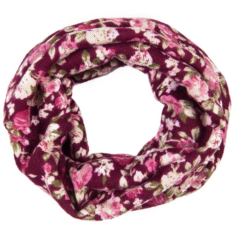 One Loop Cashmere Baby Scarf Toddler Scarves Floral Leopard Print Girls Infinity Scarf Polka Dots Scarfs 2017