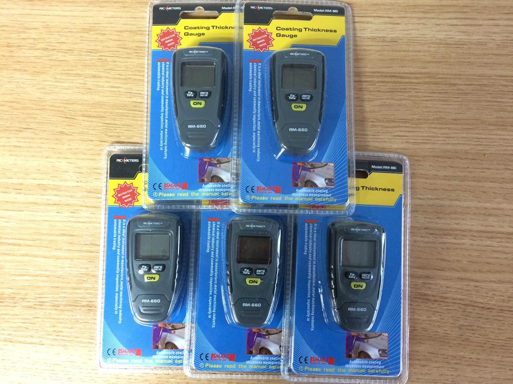 RM660 Digital Meter Instrument Tester 0-1.25mm Paint Coating Thickness Gauge Iron Aluminum Base Metal Car measure one lot(10pcs)<br><br>Aliexpress
