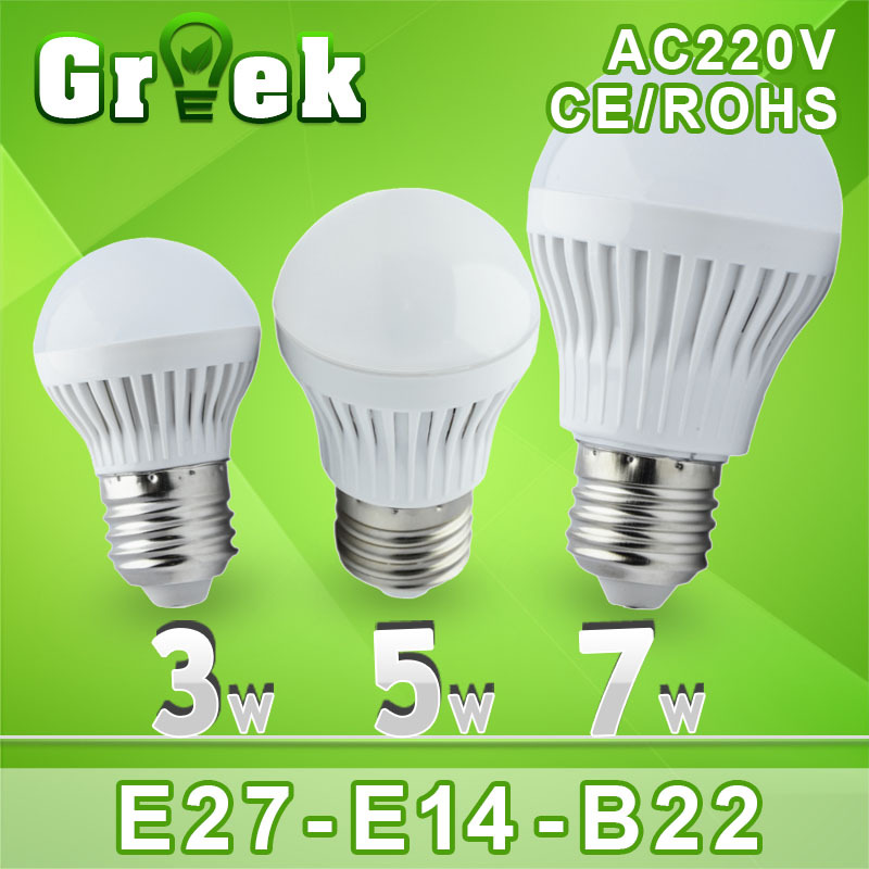 Led E27 bulb lamp E14 220V B22 3w 5w 7w 9w 12w 15w lamp lampada Led light Bulb Wholesale Bombillas luz e27 Led spotlight 110v(China (Mainland))
