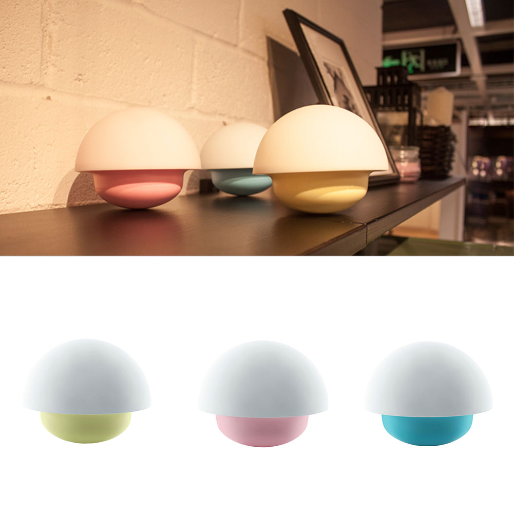 Baby Tumbler Mushroom Colorful Night Light USB/AA Touch Sensor Dimmable LED Lamp(China (Mainland))