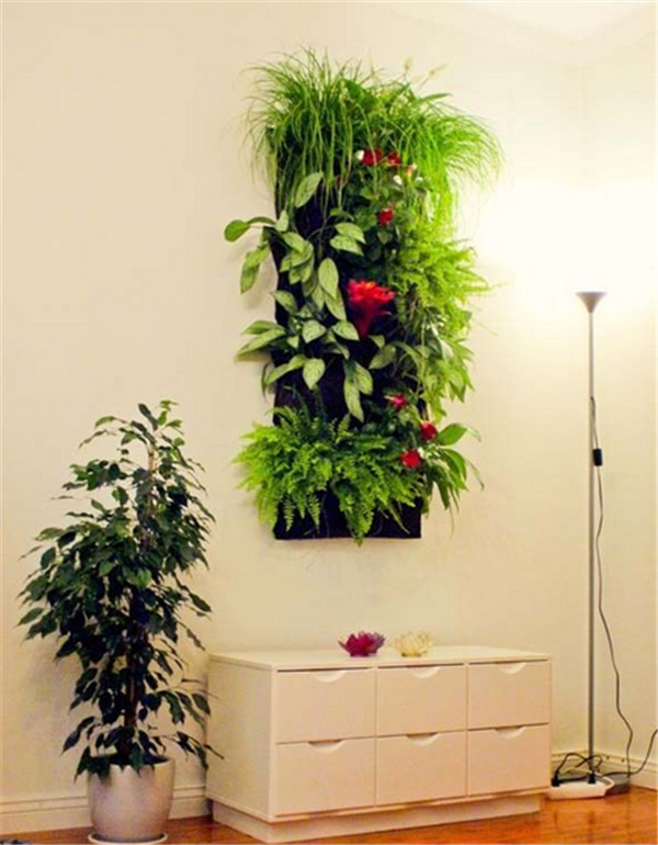 Pocket Hanging Vertical Garden Wall Planter with recycled PET felt ...