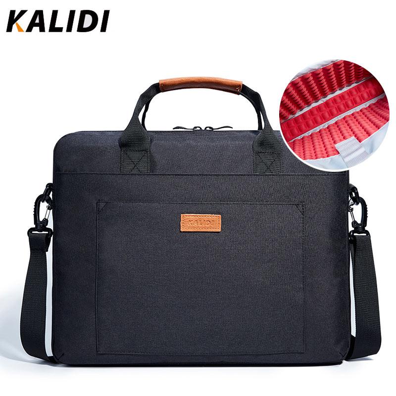 KALIDI 13.3 - 15.6 Inch Laptop Bag Business Men Briefcase Shoulder Bag for Dell Alienware / Macbook / Lenovo Notebook 13 14 15