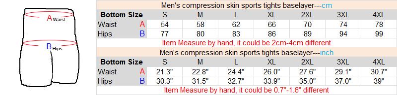 Shorts compression size measure
