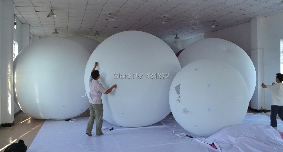 Free shipping 2m inflatable PVC balloon/advertising inflatable white balloon(China (Mainland))