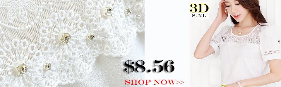 S-XXXXXL Blusas Femininas 2014 קיץ מזדמנים תחרה חרוזים פרח 3D הקשר בתוספת גודל שיפון חולצה חולצה נשים בגדים מקסימום