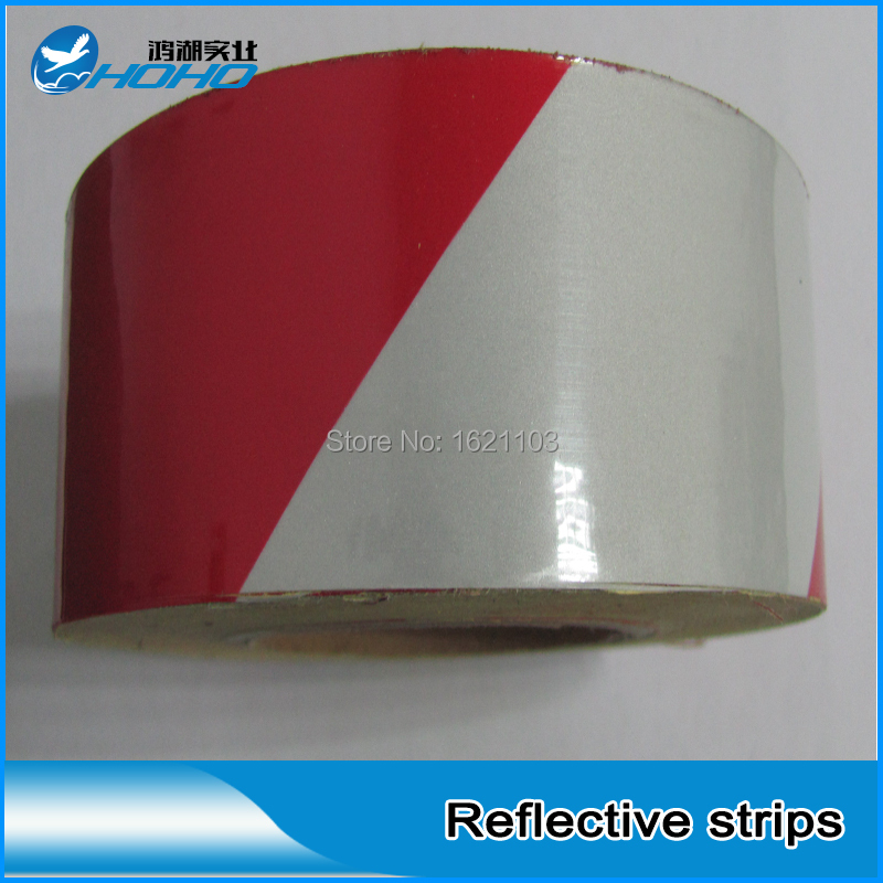 3M Reflective Tape Red White 983D, Safety Traffic Signs For Cars, Trucks, Highways and City Road, 5CM*45.7M/roll(China (Mainland))