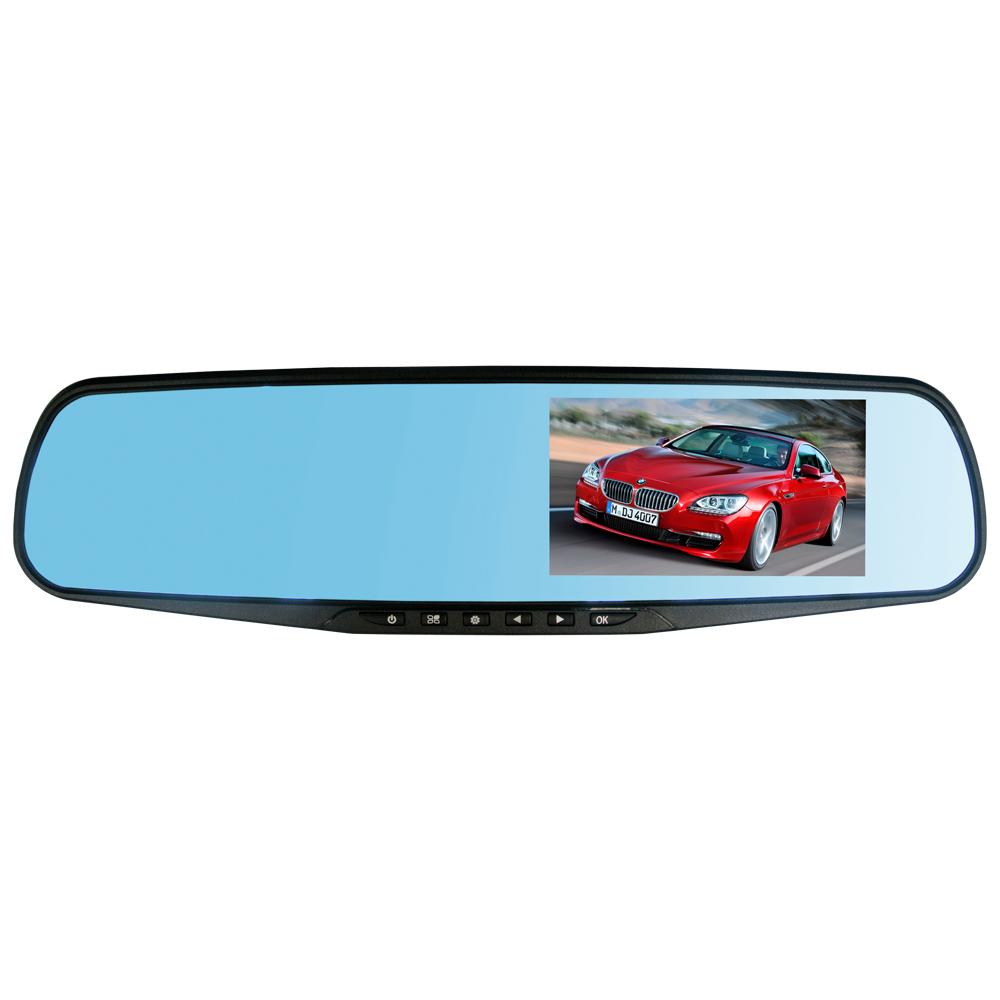 1080P Dual Lens 120 Degree Car DVR Dash Cam, G-Sensor Car Recorder Rearview Mirror + Front Camera DVR + Rear View Camera(China (Mainland))