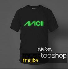 2015 new cotton VICII T-shirt luminous machine dance world first repair DJ Avicii LOGO free shipping