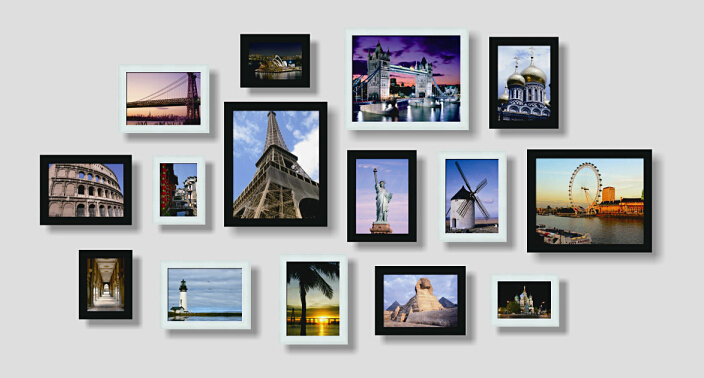 Modern Wall Frame Decor : Wall photo frame set of pcs home decoration picture