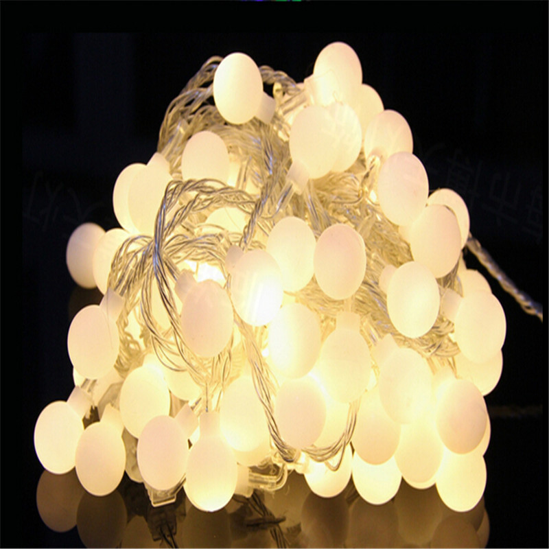Гаджет  Luminaria 10m 100LED Cherry Ball String Lamps Chanel Christmas Lights Fairy Wedding Y New Year Pendant Outdoor lighting None Свет и освещение