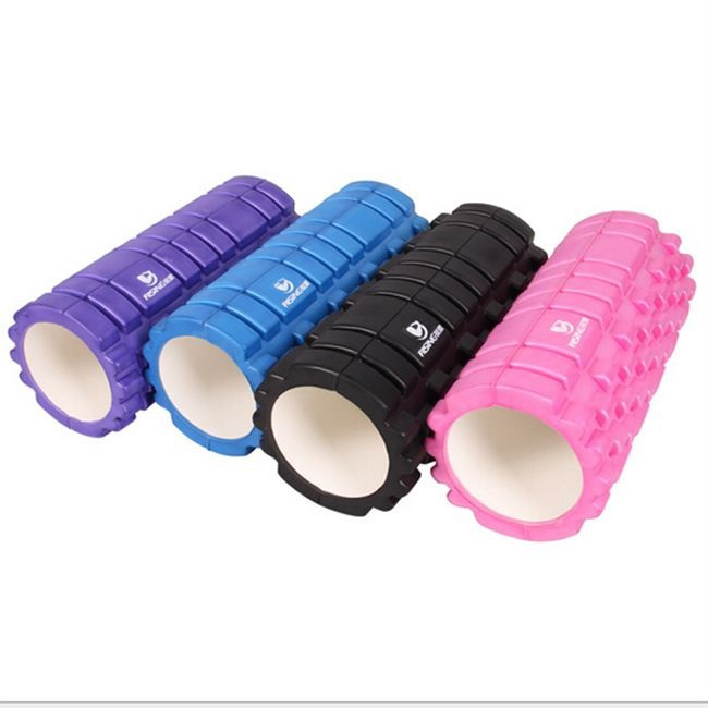 2015 New Foam Roller Yoga Block Cure Pilates Trainning Fitness Rollers Trigger Point Relief Muscular Pain Yoga Hollow Column(China (Mainland))
