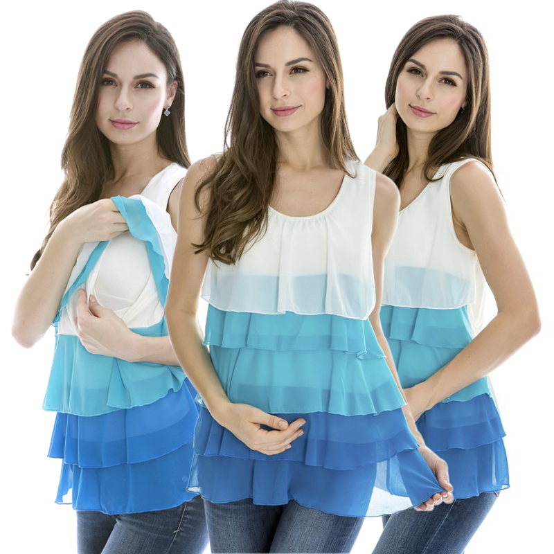 MamaLove Fashion Maternity Clothes maternity Vest Top Nursing Tank Tops Breastfeeding clothes For Pregnant Women pregnancy Camis(Hong Kong)
