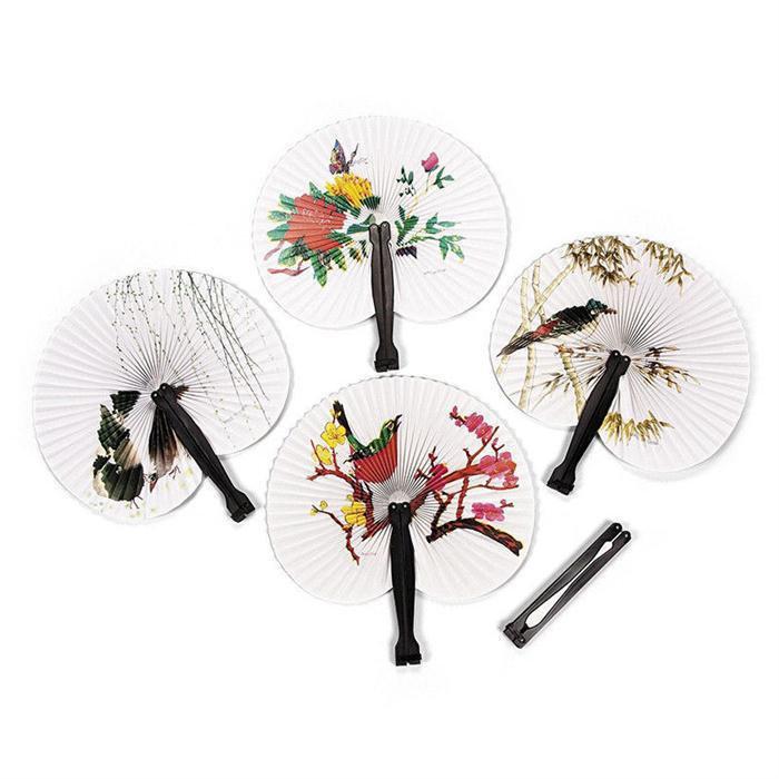 2015 New Hioliday Sale Event Party Supplies Paper Hand Fan Wedding Decoration#ZH224(China (Mainland))