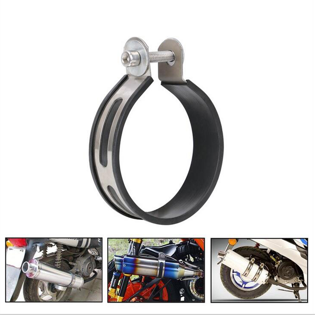 1 Piece Stainless steel Plastic Motorcycle Exhaust Pipe Muffler Silencer Holder Clamp Bracket for 100mm Diameter Exhaust Pipe