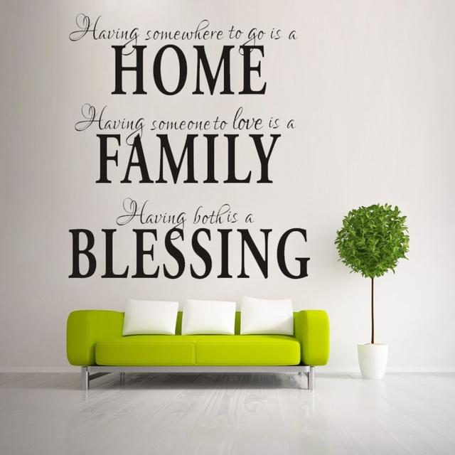 Главная семья благословение домашнего декора творческие наклейки на стены котировки 8040 декоративные adesivo де parede съемный стикер стены винила