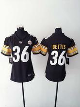2016 Women Ladies Pittsburgh Steelers,#84 Antonio Brown #7 Ben Roethlisberger #2 Vick #43 #26 LeVeon Bell,100% stitched logo(China (Mainland))